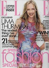 ELLE Magazine February 2000 Uma Thurman
