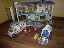 Playmobil Krankenhaus + Rettungswagen, Helikopter, Zahnarztpraxis und Bett..