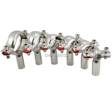 """1 Piece x 45MM 1-3/4"""" 1.75"""" Sanitary Bracket Pipe Fitting Ajustable Clamp SS 304"""