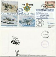 FALKLAND I 1993 RAF 75th ANN RAF (75) 8 COVER HAND SIGNED BY OFFICER COMMANDING