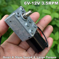 DC12V 3RPM Slow Speed Mute Micro 370 Metal Turbo Worm Gear Motor High Torque Toy