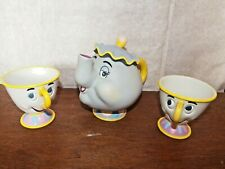 Beauty & the Beast Mrs Potts and Chip cup figure toy playset money box coin bank