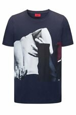 HUGO BOSS regular fit coton jersey T-shirt avec Abstract Imprimé Photo Taille M