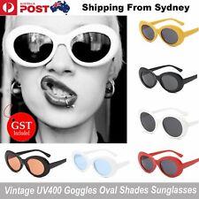 Clout Goggles Rapper Glasses Unisex Sunglasses White Oval Goggles