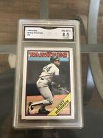 Rickey Henderson 1988 Topps #60 GMA 8.5 Near Mint-mint+ New York Yankees