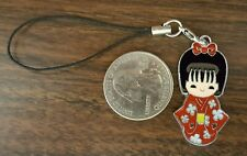 New Girls Day Red Kimono Cell Phone Charm Strap