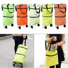 Strong Wheeled Foldable Shopping Trolley Bag Travel Cart Luggage Bag Multi-use