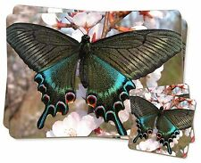 Black and Blue Butterfly Twin 2x Placemats+2x Coasters Set in Gift Box, IBU-4PC