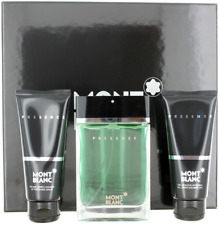 Presence By Mont Blanc For Men EDT 2.5 +After Shave Balm 3.3 +Shower Gel 3.3 New