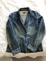 Ladies gAP Quality Jean  denim Jacket / Coat Size M