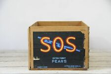 Vintage S.O.S. Oregon Pear Crate Southern Oregon Sales, Inc. Medford Ore.