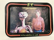 1982 E.T. The Extra Terrestrial Metal Folding TV  Lap Tray Vintage RARE ERROR