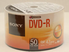 50 Sony DVD-R 16X Silver Branded DVD-R Blank Media Discs