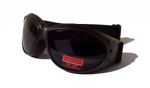 NEW- PEERSER Motorbike Biker Protective Goggles |Tinted 100% UV400 Anti-Fog Lens