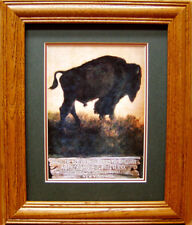Abercrombie & Fitch  Co. Advertising Old Time Sporting Poster Buffalo Bison Nice