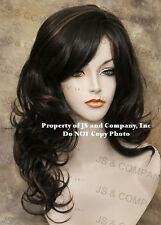 Long Open Curly/wavy Layered Brown strawberry blonde Mix Wig w. bangs jsbc 4/27