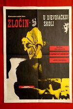 CRIME AT GIRLS SCHOOL CZECH LUBOMIR LIPSKY 1966 JIRI MENZEL RARE YU MOVIE POSTER