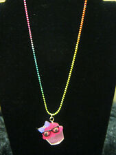 new pink nerdy cupcake necklace fashion jewelry fun pastry chef baker Kawaii