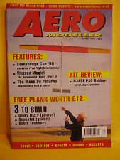 AEROMODELLER JANUARY 2000 DINKY DIZZY SNOEKLET BOBIK PLANS FLAP HAPPY TOM HERR