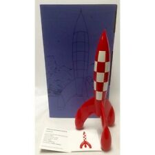 Extremely Rare! Tintin Rocket To The Moon Limited Edition Figurine Statue