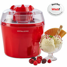 Andrew James AJ000549 1.45L Ice Cream Maker - Red