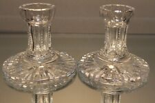 "Vintage Pair Waterford Irish Crystal Candlesticks Candle Holder set 4"" tall MInt"