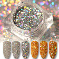 BORN PRETTY Holographicss Nail Glitter Sequins Gold Silver Nail Art Decoration