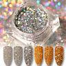 Laser Nail Sequins Paillette Glitter Powder Holo Dust Gold Silver Born Pretty