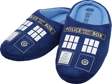 Doctor Who--Doctor Who - TARDIS Printed Slippers Ladies 8