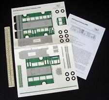 1980s Vintage BVB Modellbogen Gelenk-Trolleybus Swiss Basel Transport Company