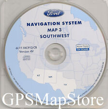 2005 2006 2007 Ford Escape Hybrid Navigation CD Map #3 Latest 4V Cover AZ NM TX