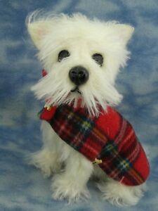 """10"""" OOAK Adorable Mohair Artist West Highland White Terrier Dog *Bramber Bears*"""