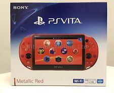 Sony Playstation PS Vita Wi-Fi Metallic Red PCH-2000ZA26 PCH-2000 2016 New Color
