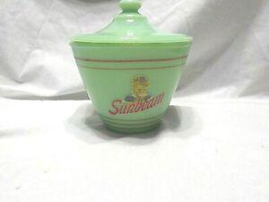 Jadeite Sunbeam Bread Licensed Product Covered Grease Jar