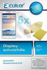 6x Ecultor Huawei Ascend G730 Film de protection d'écran cristal clair