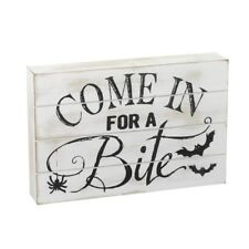 Come in for a Bite White Halloween Sign – Wood Party Decoration Ornament Novelty