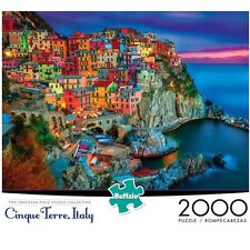 Buffalo Games Cinque Terre Beautiful Italian Riviera 2000-Piece Jigsaw Puzzle