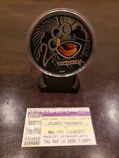 Atlanta Thrashers Inaugural Season Hockey Puck 99'-2000 NY Islanders Ticket Stub