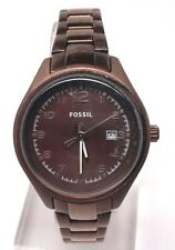FOSSIL AM4383 WOMEN'S FLIGHT STAINLESS QUARTZ BROWN DIAL WATCH DOESN'T WORK!!!!