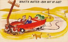 POSTCARD  COMIC   Motoring Related  Wha's a matter.....