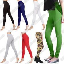 New Ladies Stretchy Plain Full Ankle Length Cotton Slim Fit Summer Leggings Pant