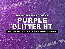 "12""x20"" PURPLE Glitter Heat Press thermal transfer vinyl, T- Shirt, sheet/roll"
