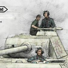1:35 Panther Crew Normandy 1944 , Resin Model Kit - 3 Figures WWII Soldiers