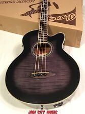 Ibanez AEB20E Acoustic Electric Ac/El Bass Guitar Flamed Sycamore Top Gray