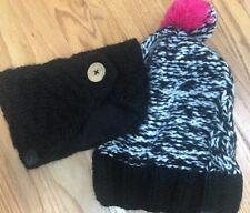 5e3f5350070 SET of 2 BULA HAT Womens Knitted Wool Blend Beanie Winter Headband Xmas  Gift EUC
