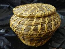 Woven Basket w/lid Old? Estate Find