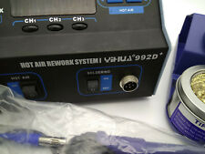 Yihua 992D +2 IN 1 LCD SMD Hot Air Rework Station Used 110V