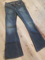 WRANGLER Lace Inset Denim Bell Bottom Jeans Sz 3x34 FESTIVAL NWT