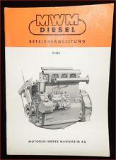 MWM Diesel manual de instrucciones de motor d 225