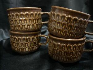 Vintage WEDGWOOD  - PENNINE  Tea Cups Set Of 4 Nice Clean Condition